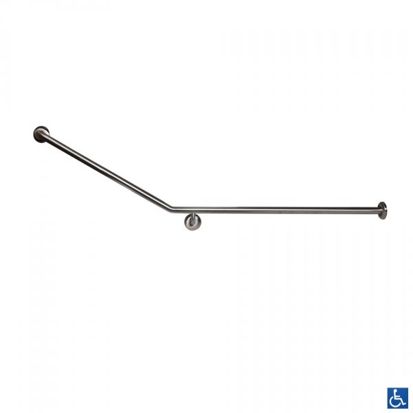 MLR106_X 30 Degree Flush Mount Rear_Side Wall & Cistern Grab Rail RH