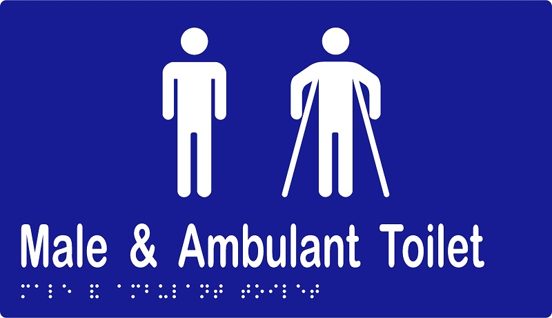 ML16246A Male & Male Ambulant Toilets - Braille