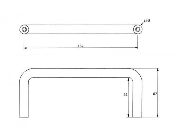 ML310 152mm Pull Handle Drawing