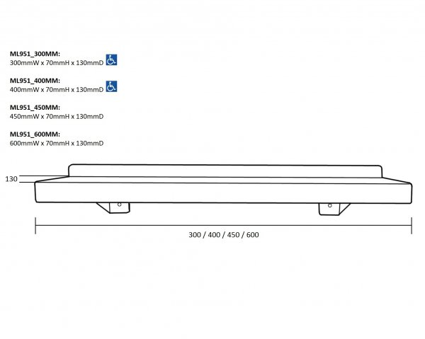 ML951 Series Utility Shelf - Various Sizes Drawing(1)