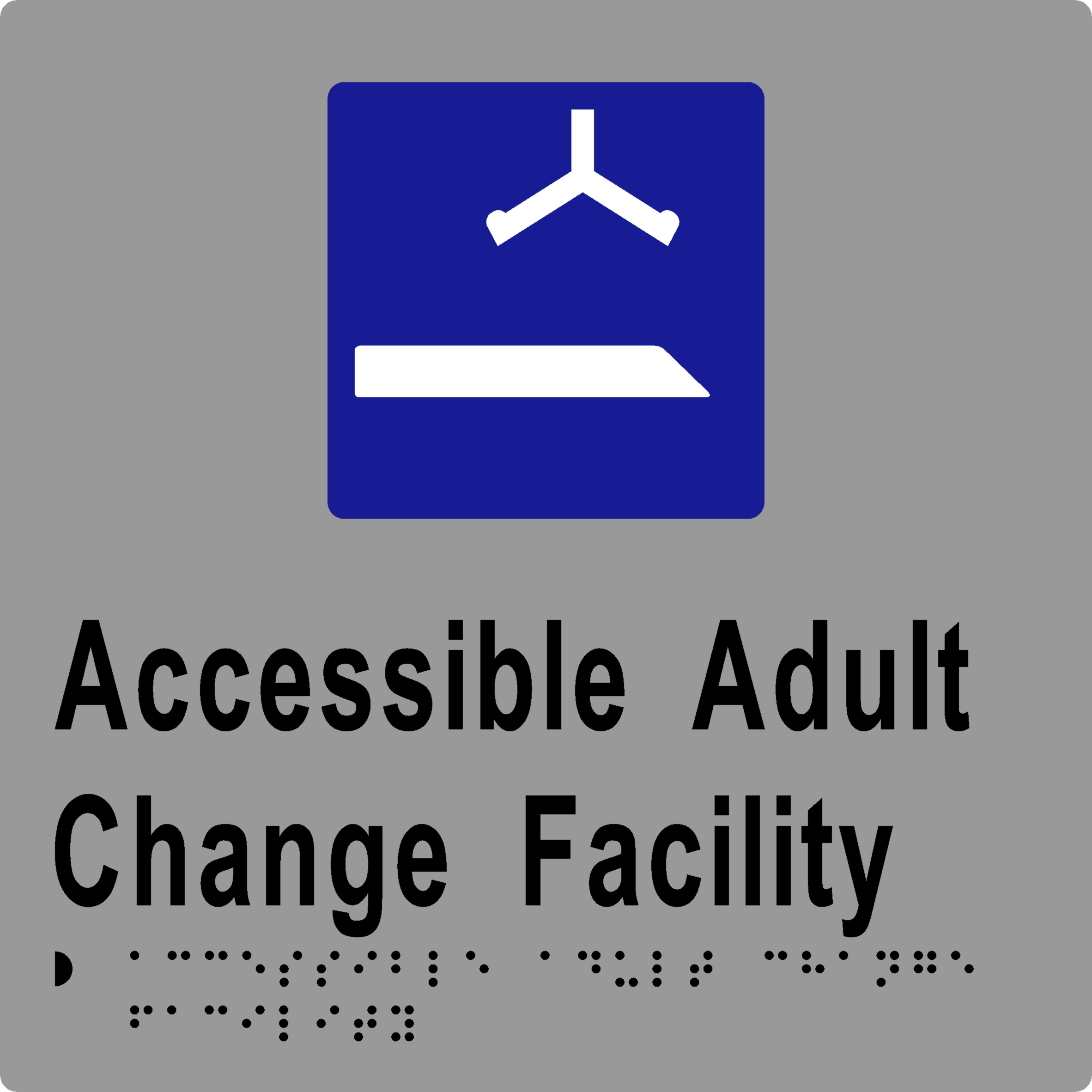 ML16437 Accessible Adult Change Facility Braille