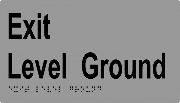 ML16997SC Exit Ground Level with Braille