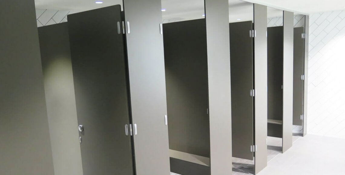 dark grey centurion toilet partition